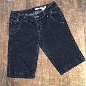 DKNY Dark Denim Clam Diggers